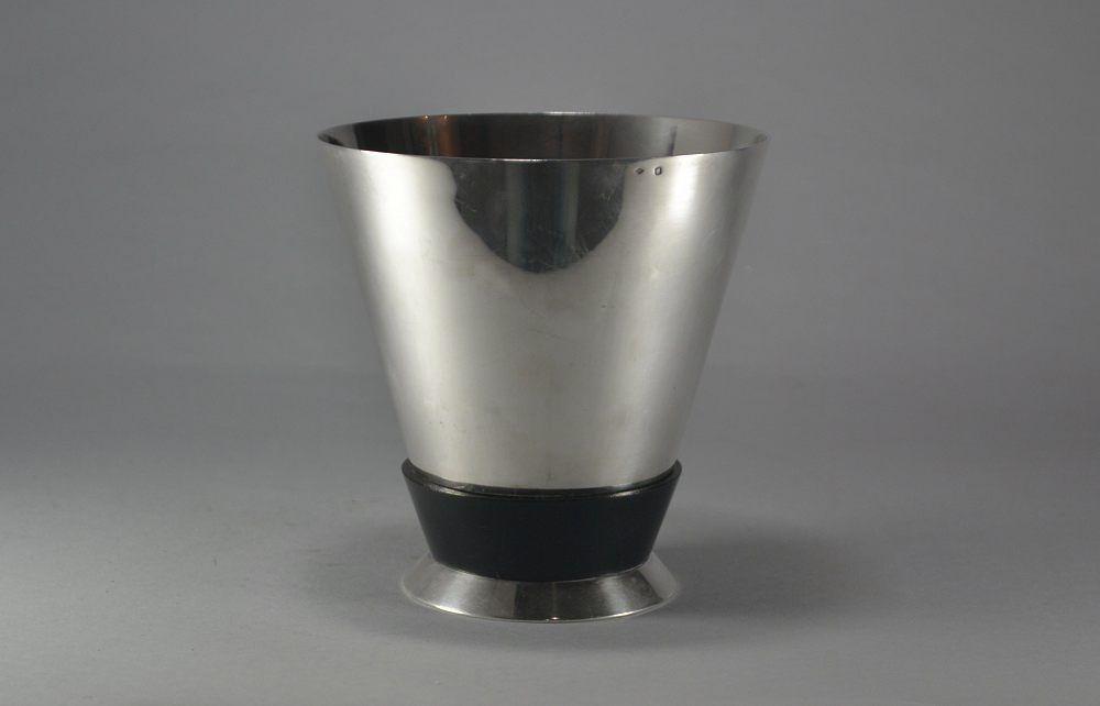 Jean Emile PUIFORCAT sterling silver modernist vase