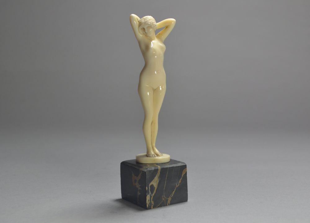 Joe Descomps ivory nude figure