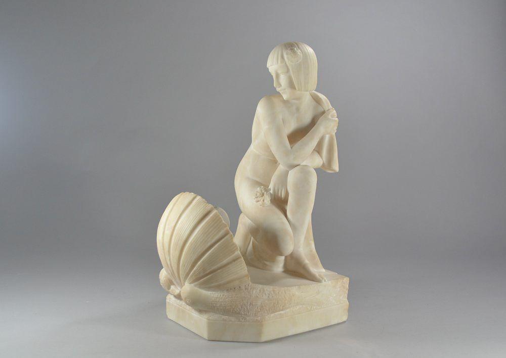 1925 alabaster sculpture lighting