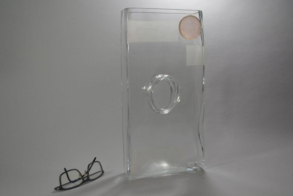 A. RIECKE. Modernist cubist glass vase 1939 #8