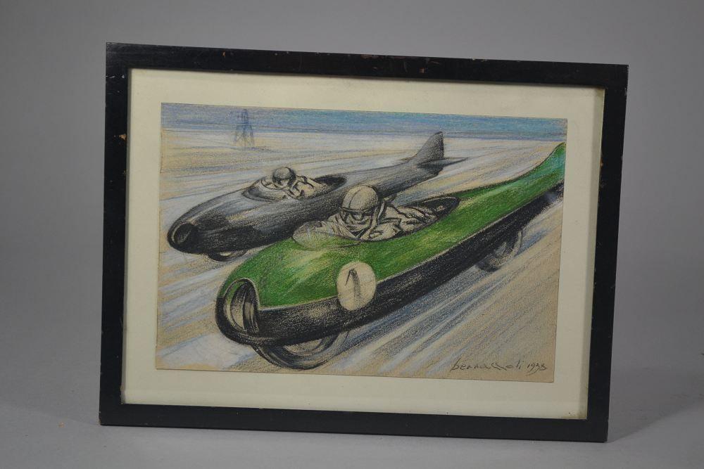 D. Bernazzoli - Italian Futurismo drawing RARE ! 1938