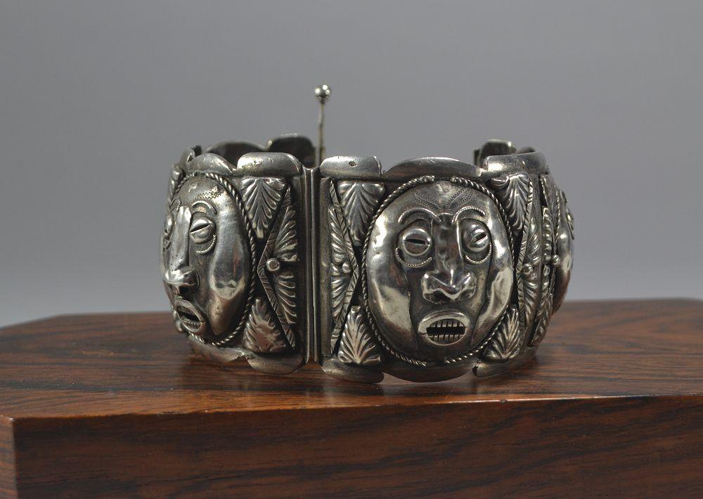 Sterling Silver french jazz age bracelet.