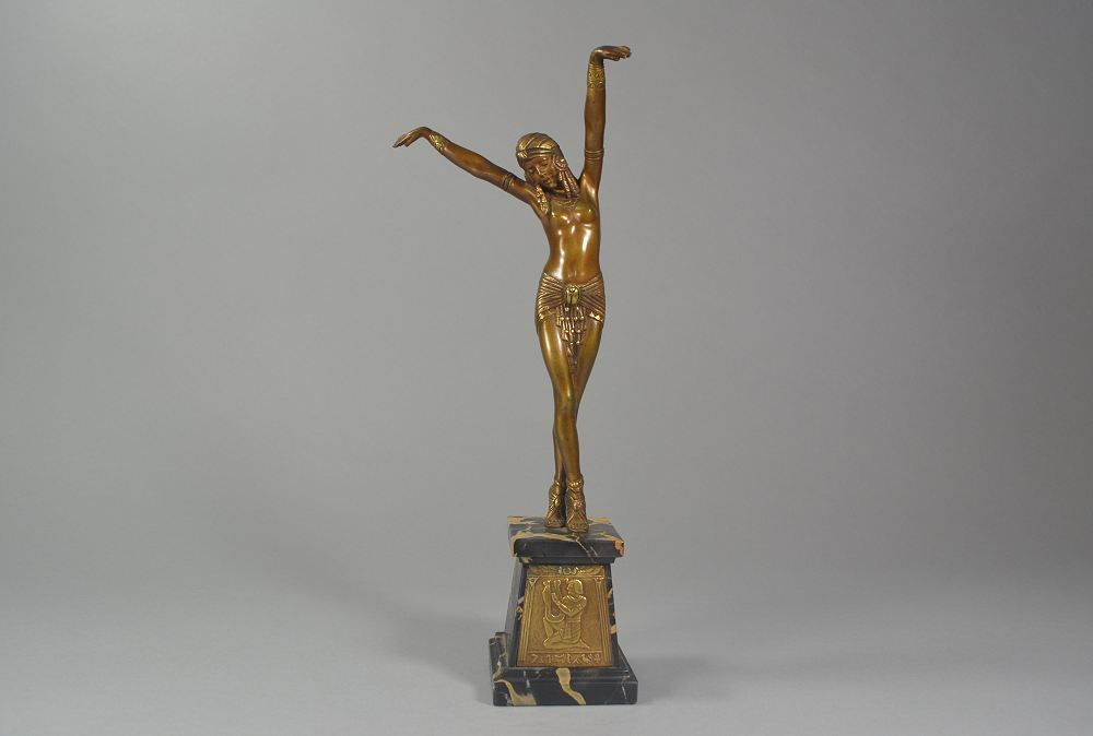 Dh. Chiparus. bronze egyptian Dancer circa 1925