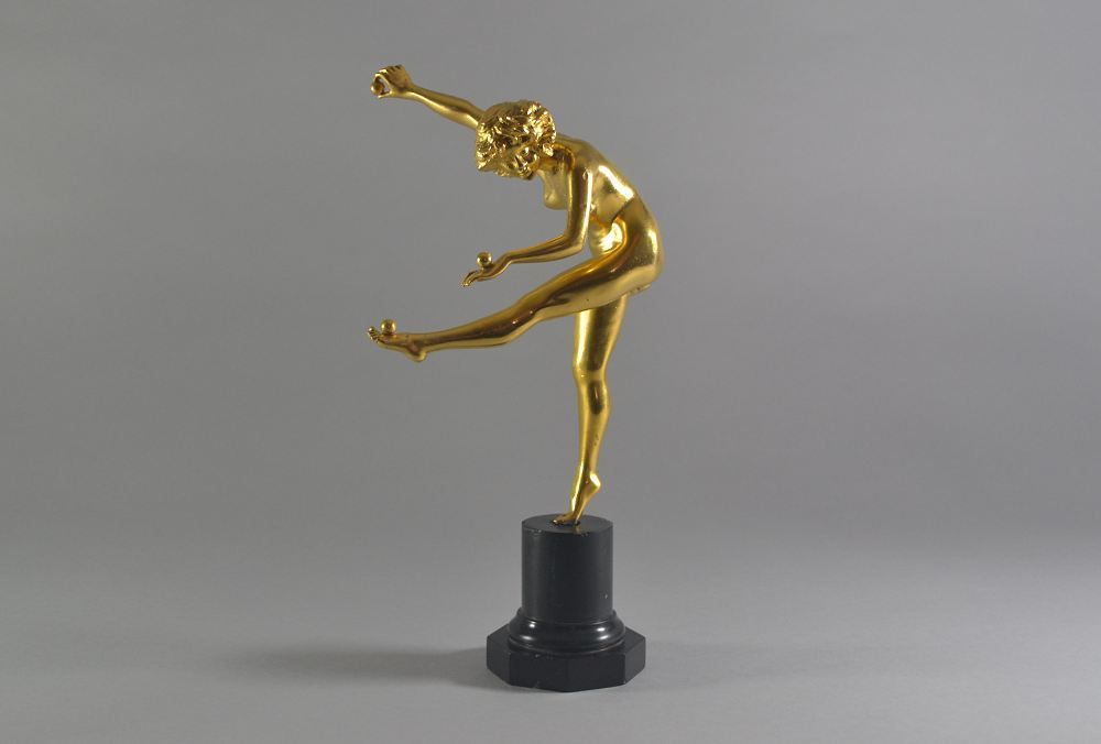 Gilded bronze Juggler. Cl. J. R. Colinet.