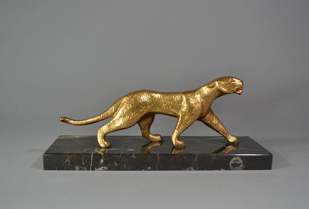 Michel Decoux art deco bronze panther