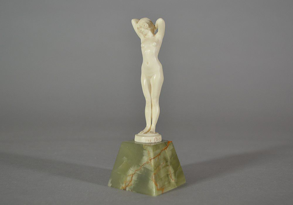 Joe Descomps art deco 1930 ivory figure.