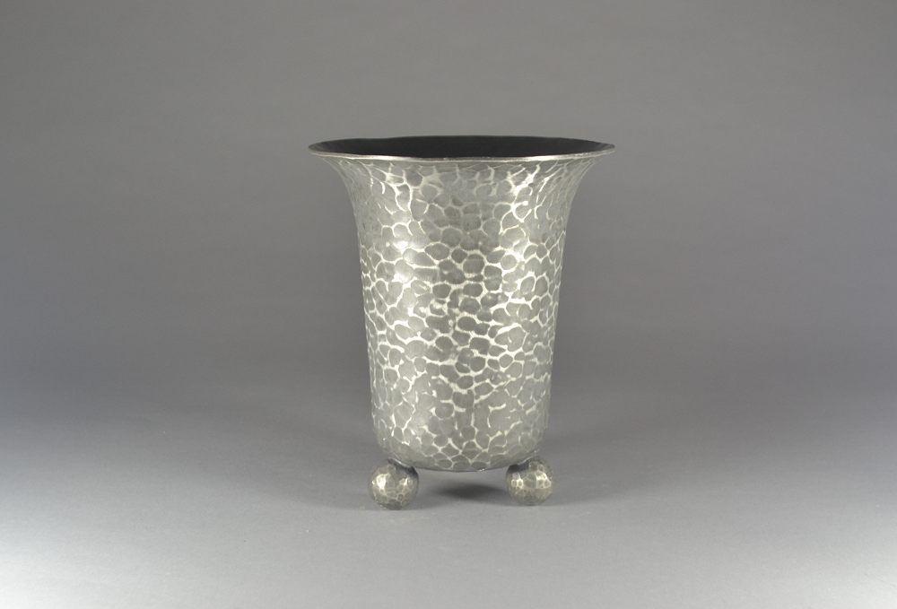 Jean DESPRES art deco modernist pewter vase