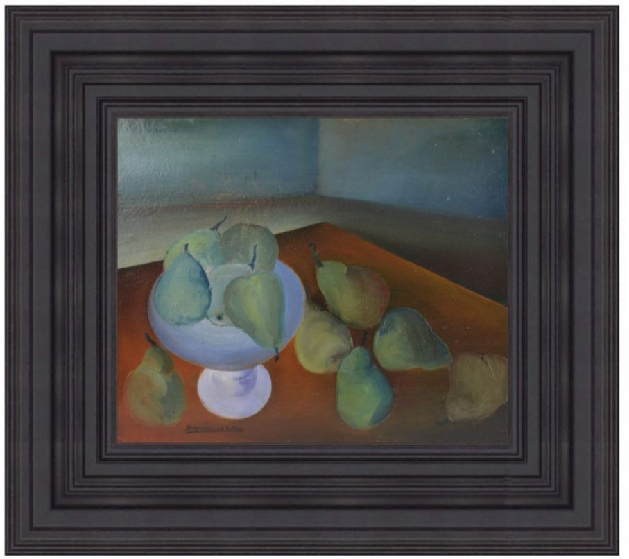 Diamantino Riera (1912-1961) Still life oil on cardboard