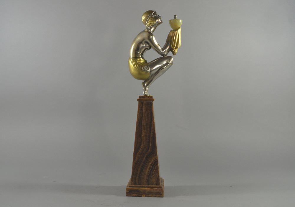 G. Duvernet rare art deco figure