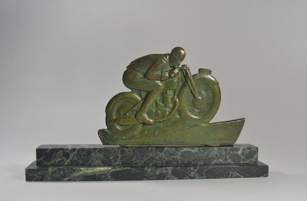 Edouard Fraisse. Bronze motorcycle