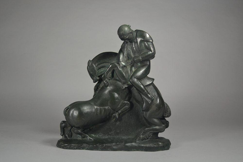 Akop Gurdjan Russian Armenian. 1923 Bronze cubist art deco sculpture