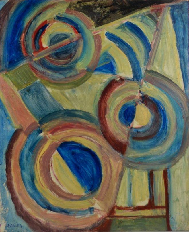 Nicolas Issaiev. Blue composition.