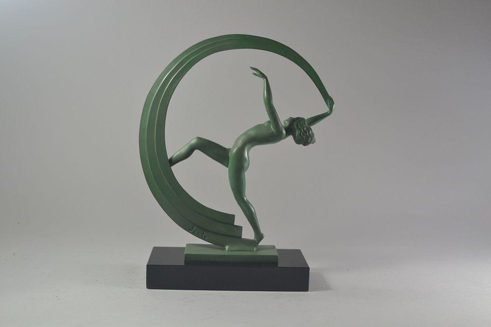 Bacchanal Dancer. Art deco figure by Janle for Max Le Verrier