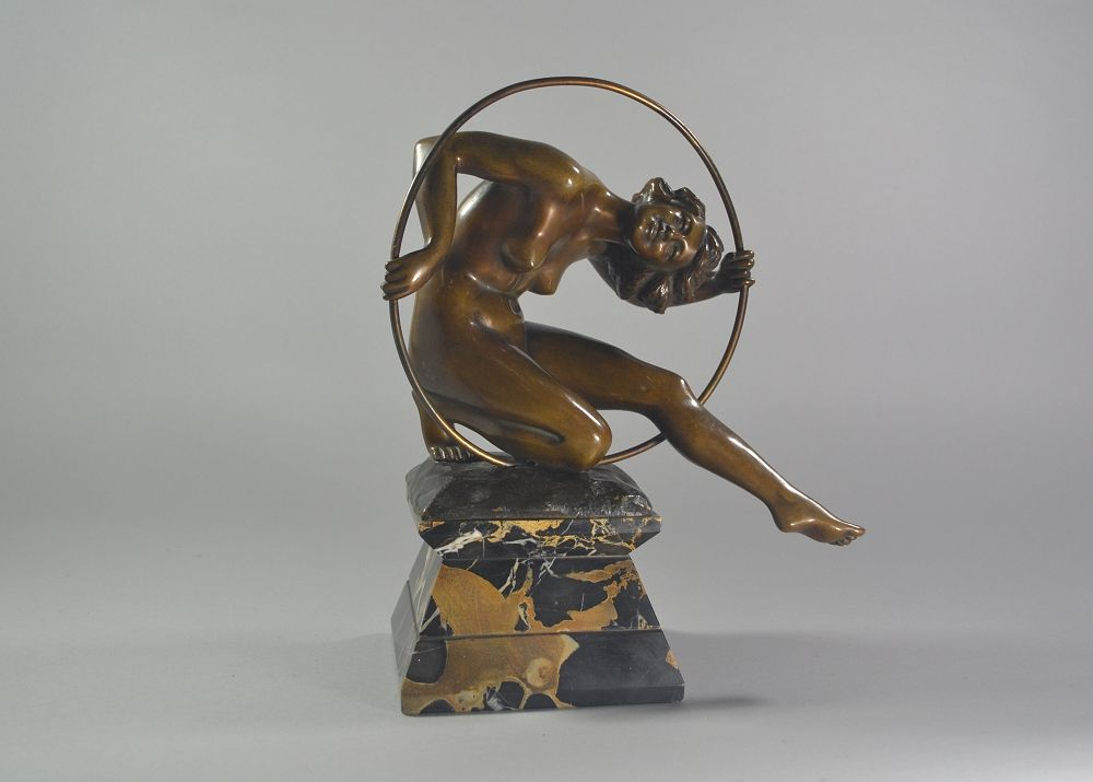 L.Giannoni bronze hoop dancer figure
