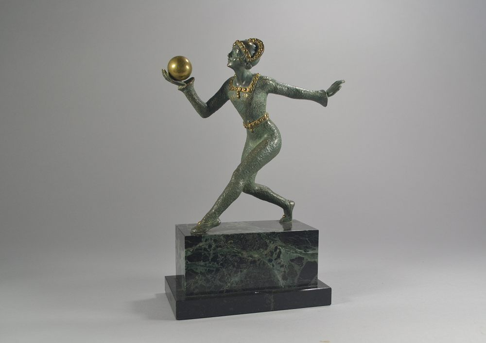 Desiree GRISARD bronze ball dancer