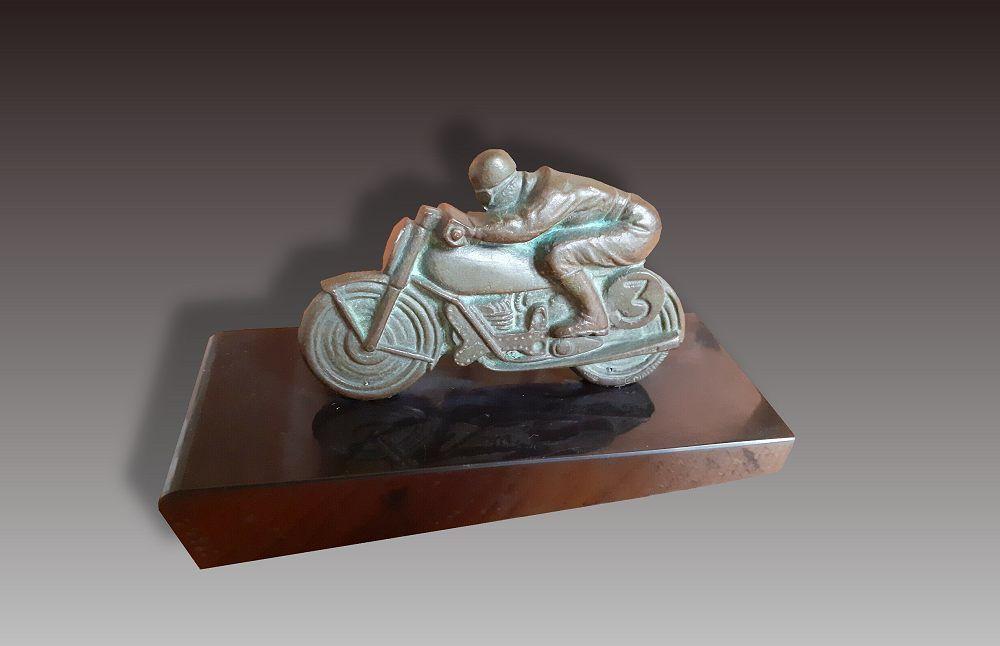 E. Mardini bronze motorcycle. Circa 1930