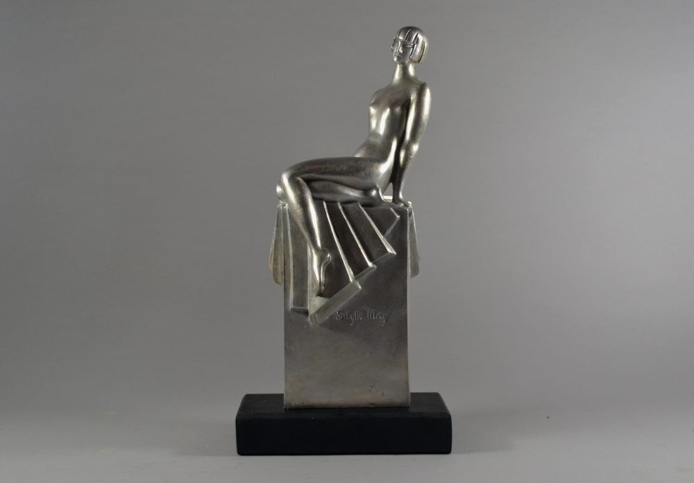 Sibylle May rare bronze sculpture or a lady