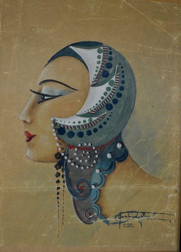 Madeleine Gerard. Cabaret dancer portrait