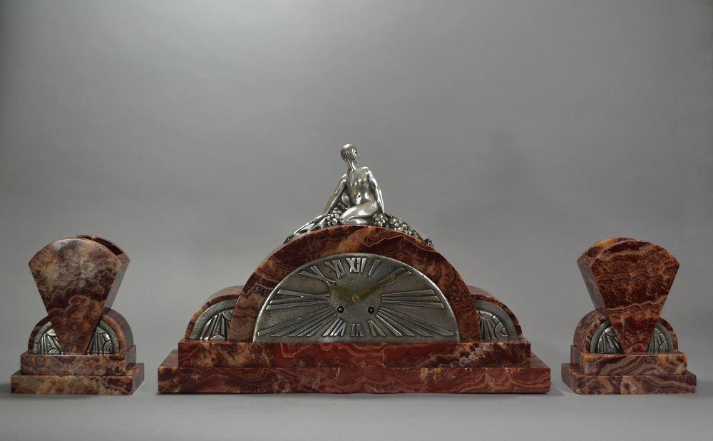 Geo Luc art deco clock