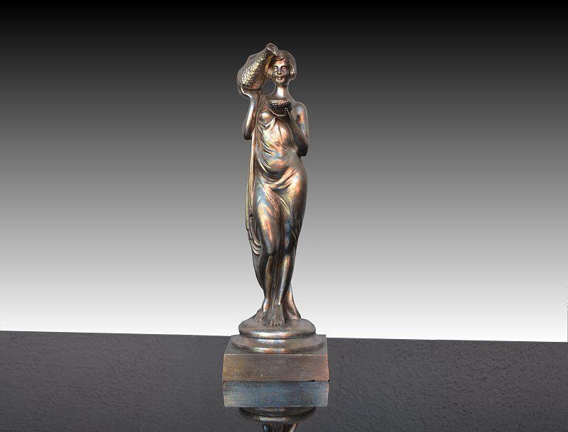 Art deco water carrier bronze sculpture