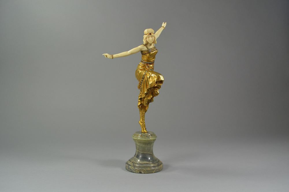 Paul Philippe Bronze and Ivory Russian Dancer