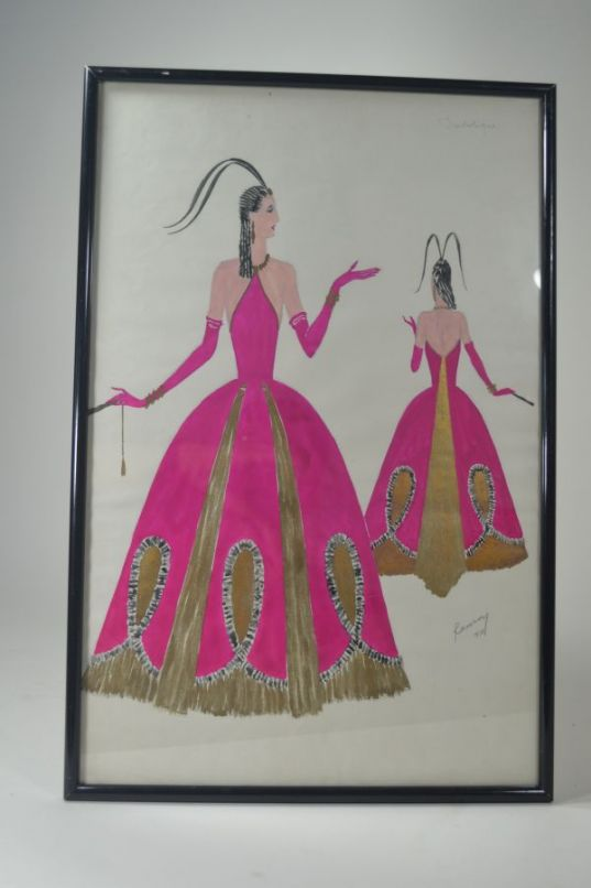 R.G Ranson  costume drawing for Folies Bergeres 2/6