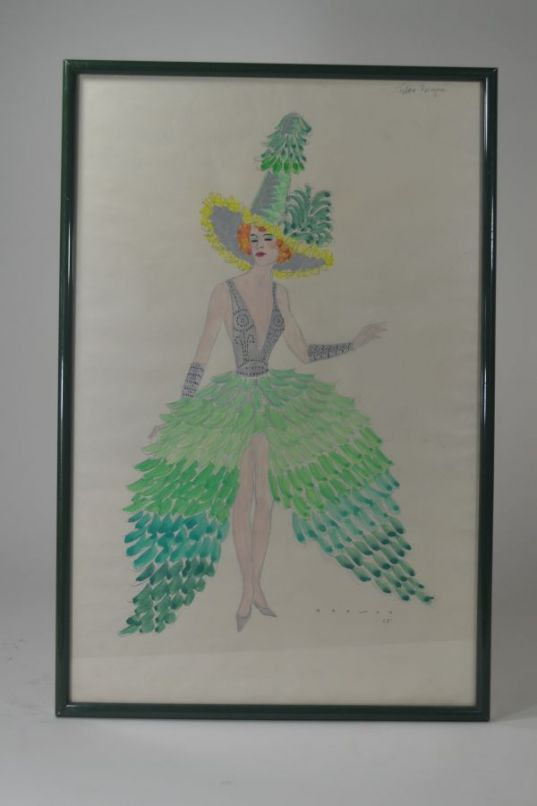 R.G Ranson  costume drawing for Folies Bergeres 4/6