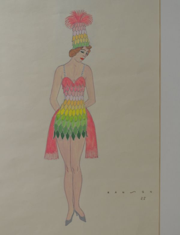 R.G Ranson  costume drawing for Folies Bergeres 1/6