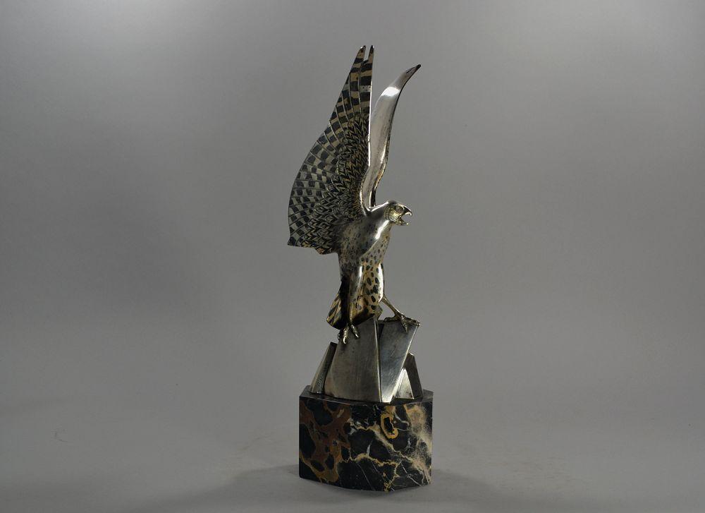 Henri Rischmann bronze eagle. Stunning patina
