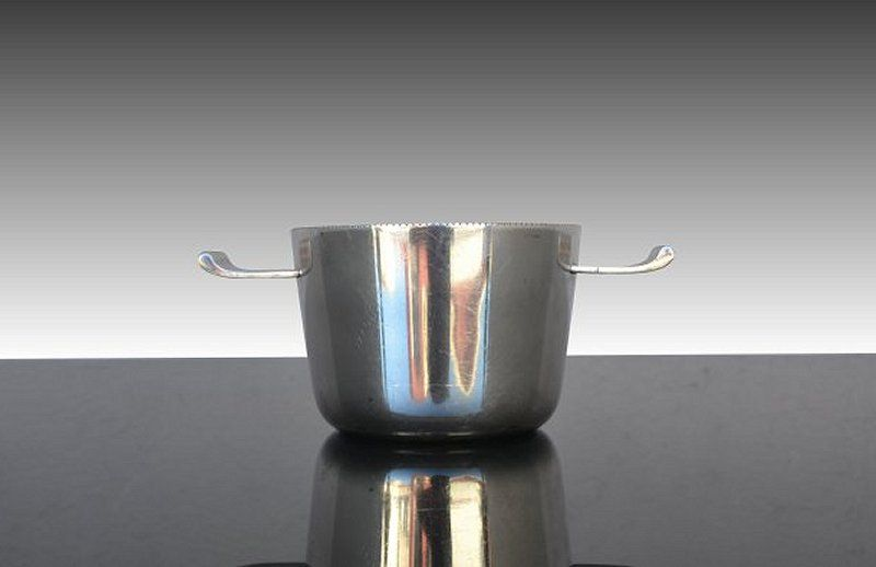 Modernist Dansk danish silver dish / bucket