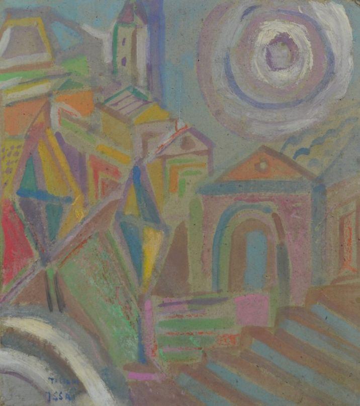 Nicola Issaiev (1891-1977) Tuscany landscape