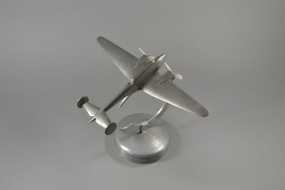 1930 1940 Metal Plane Model Art Deco Sculptures Bronze Clocks Vases
