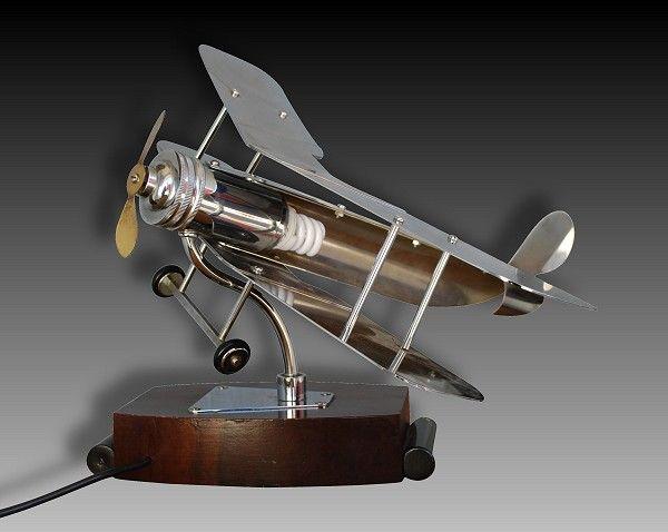 1930 Fr Plane Desk Lamp Art Deco, Aviation Desk Lamp
