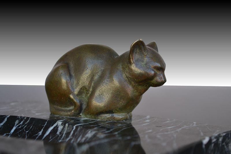 Préférence 1930.fr Bronze cat sculpture by Luc - Art deco sculptures bronze  IA65