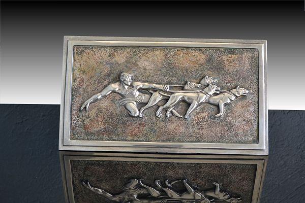 1930.fr Kelety bronze plate sculpture bas relief - Art deco ...