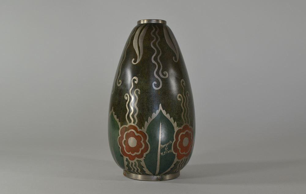 m offner art deco dinanderie vase art deco sculptures bronze clocks vases. Black Bedroom Furniture Sets. Home Design Ideas