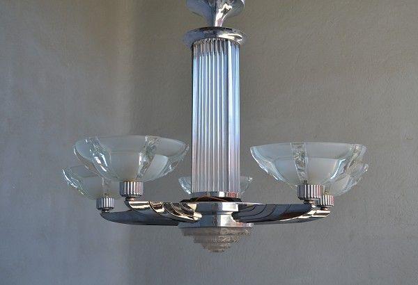 1930 petitot modernist chandelier art deco sculptures bronze petitot modernist chandelier mozeypictures Gallery