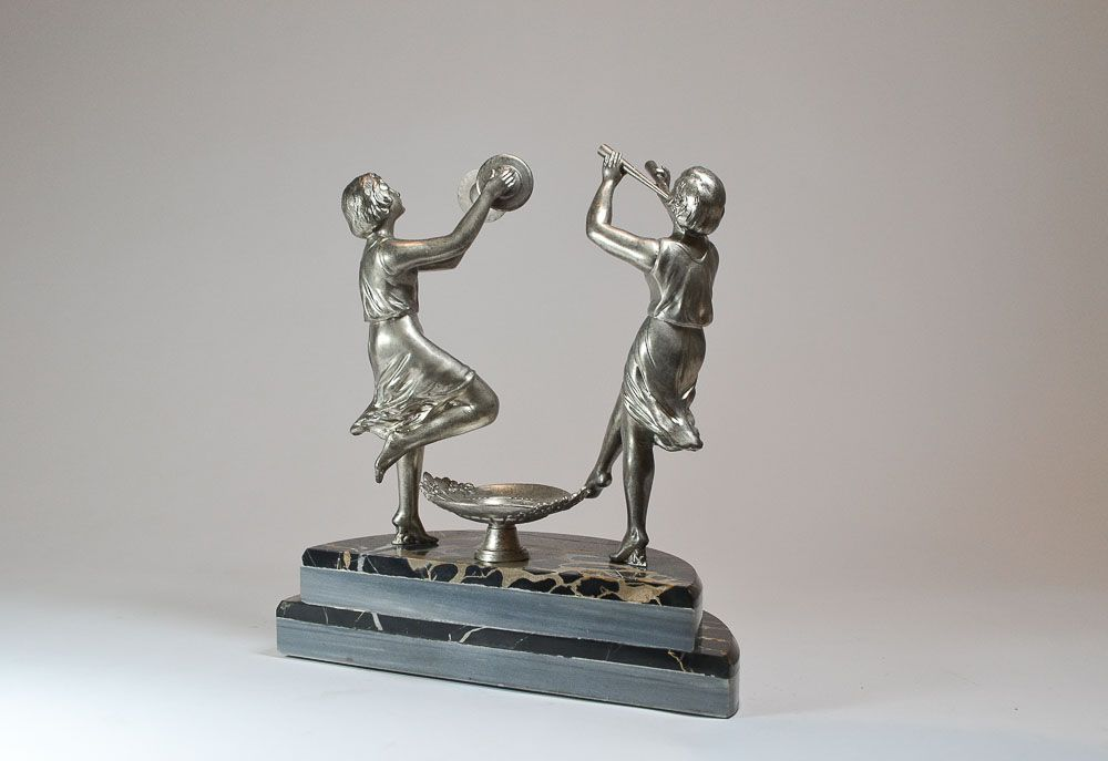 Art Deco Music Dancer Pair Figure Art Deco