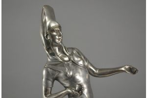 Voltas. Bronze dancer sculpture