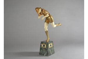 Pierre Le Faguays rare chryselephantine figure