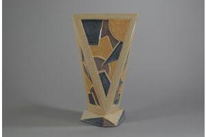 Marcel GUILLARD for ETLING cubist futurist ceramic vase