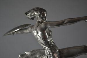 Pierre Le Faguays ultra rare warrior amazon bronze figure