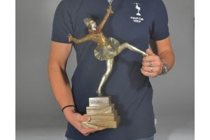 Jourdain, bronze finely chased art deco dancer. 48cm