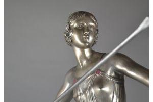 Josselin, art deco bronze figure of an amazon
