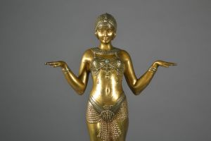 Dh. Chiparus. Theban dancer. Bronze figure. 1925