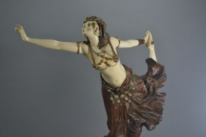 Claire Colinet - Chryselephantine Egyptian Dancer