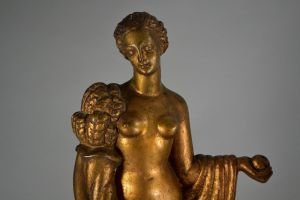 Pasquale Sgandurra italial sculptor. 2 art deco figures.