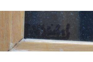 Francois Van Stichel. Oil on cardboard.