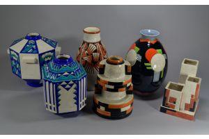 #5 CHARLES CATTEAU Boch Freres KERAMIS vase
