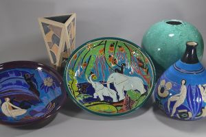 #2 Longwy For PRIMAVERA large ceramic charger. Tropical fantasy